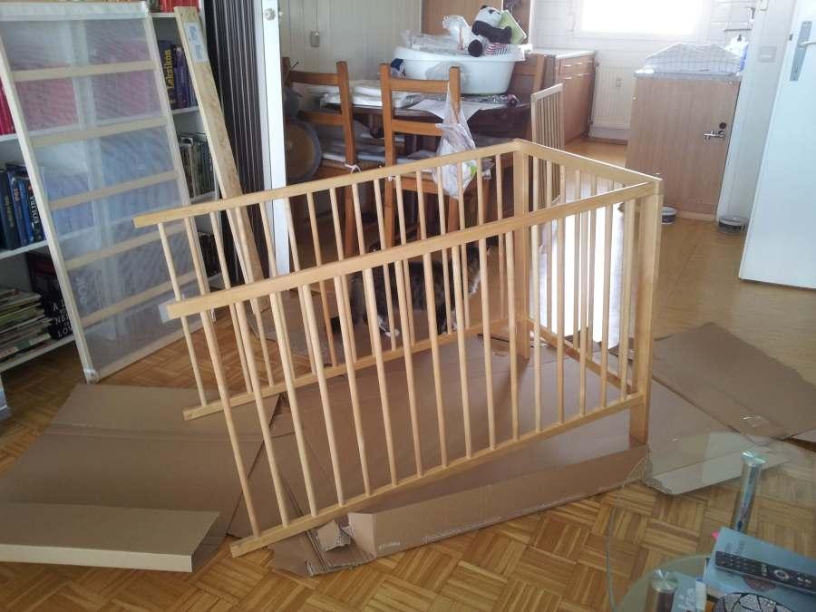 sestavljanje otroške posteljice